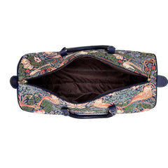 Strawberry Thief Blue Pull Holdall | Tapestry Travel Suitcase | PULL-STBL