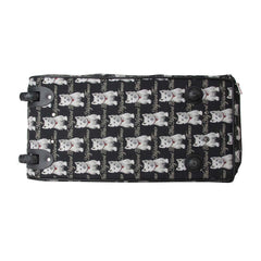 Westie Pull Holdall | Black Tapestry Travel Holdall | PULL-WES