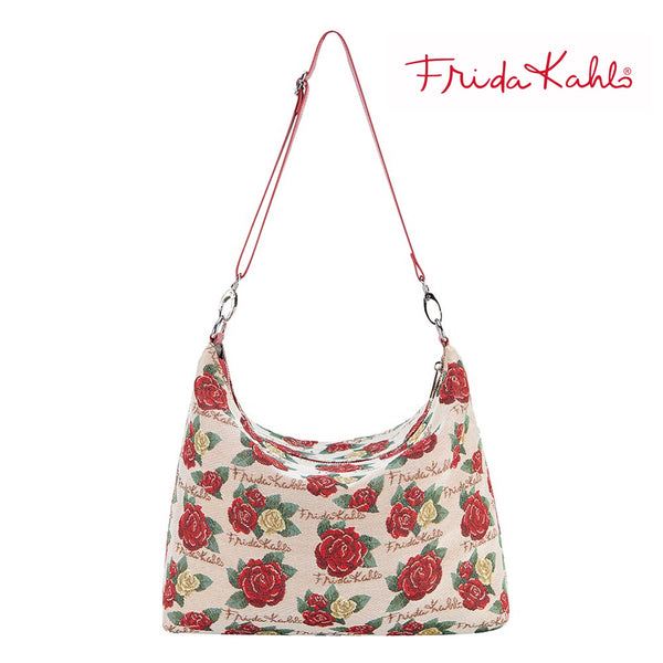 2021 S/S (New Arrival) Frida Shoulder Kahlo Rose Slouch Bag | Floral Shoulder Handbag | SLOU-FKROSE