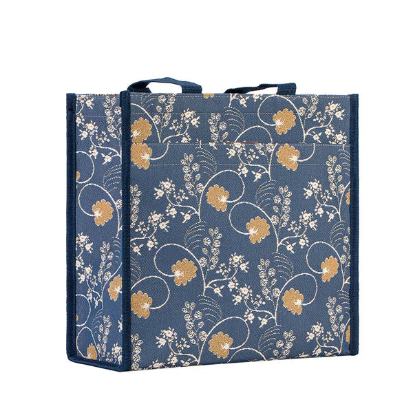 Jane Austen Blue Shopper Bag | Tapestry Ladies Shoulder Bag | SHOP-AUST