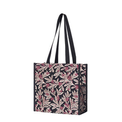 Golden Fern Shopper Bag | Floral Tapestry Foldable Tote | SHOP-GFERN