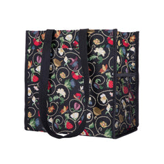 Jacobean Dream Shopper Bag | Black Floral Shoulder Bag | SHOP-JACOB