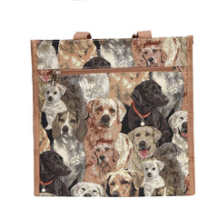 Labrador Shopper Bag | Brown Tapestry Ladies Shoulder Bag | SHOP-LAB