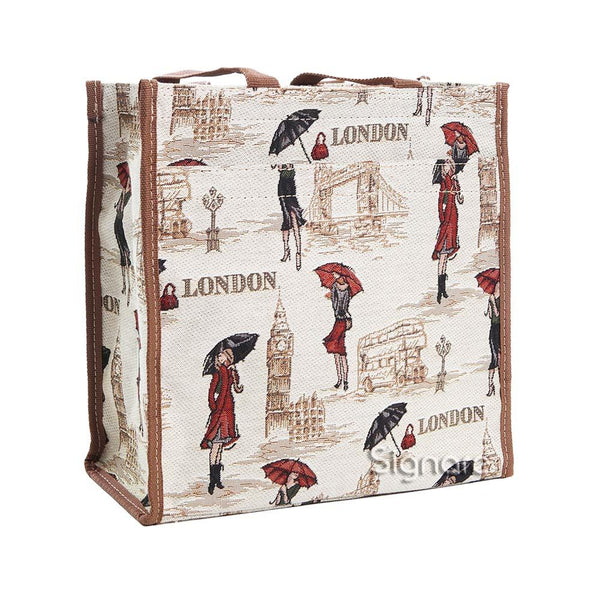 Miss London Shopper Bag | Tapestry Ladies Shoulder Bag | SHOP-MSLN