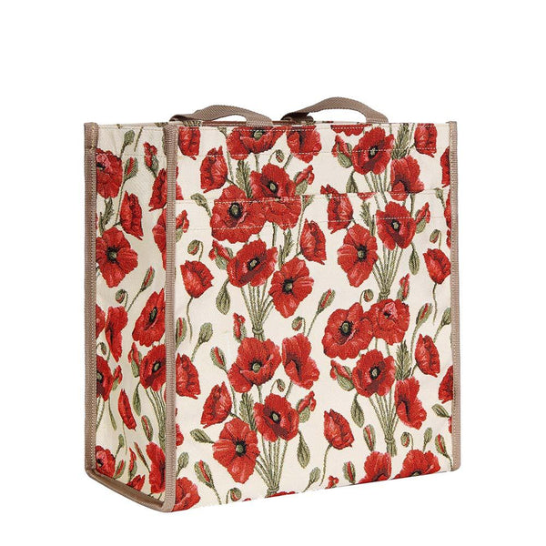 Poppy Shopper Bag | Floral Tapestry Ladies Shoulder Bag | SHOP-POP