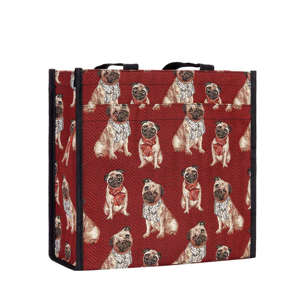 Pug Shopper Bag | Tapestry Cute Ladies Shopping Bag | SHOP-PUG