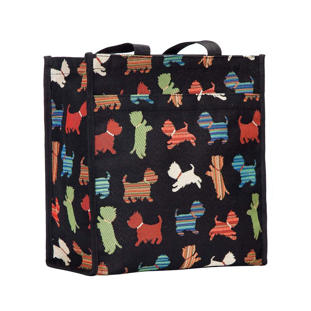 Playful Puppy Shopper Bag | Tapestry Ladies Shoulder Bag | SHOP-PUPPY