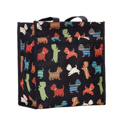 Playful Puppy Shopper Bag | Ladies Tapestry Elegant Fashion Reusable Foldable Tote Playful Puppy | SHOP-PUPPY