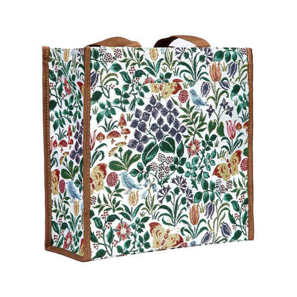 Spring Flowers Shopper Bag | Ladies Unique Environmental Reusable Zip Tote Bag | SHOP-SPFL