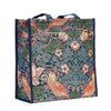 William Morris Strawberry Thief Blue Shopper Bag | Tapestry Ladies Shoulder Bag | SHOP-STBL