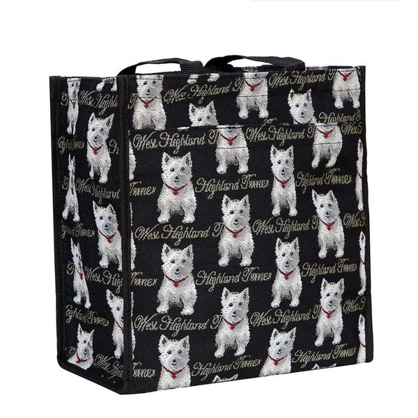 Westie Shopper Bag | Tapestry Ladies Shoulder Bag | SHOP-WES