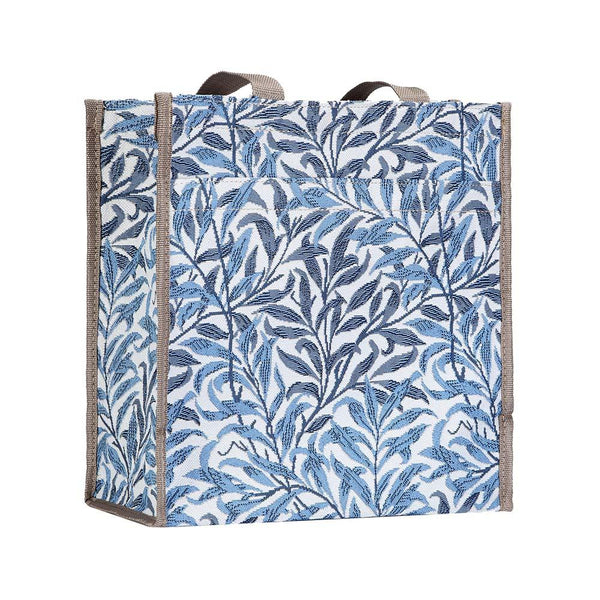 William Morris Willow Bough Shopper Bag | Designer Floral Reusable Grocery Tote | SHOP-WIOW