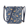 Jane Austen Blue Sling Bag | Oak Pattern Tapestry Shoulder/Cross Body Bag | SLING-AUST