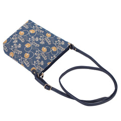 Jane Austen Blue Sling Bag | Blue Tapestry Crossbody Bag | SLING-AUST