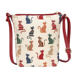 Cheeky Cat Sling Bag | Fashionable Tapestry Crossbody Bag | SLING-CHEKY