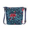Frida Kahlo Carnation Sling Bag | Floral Tapestry Fabric Cross Body Bag | SLING-FKCARN