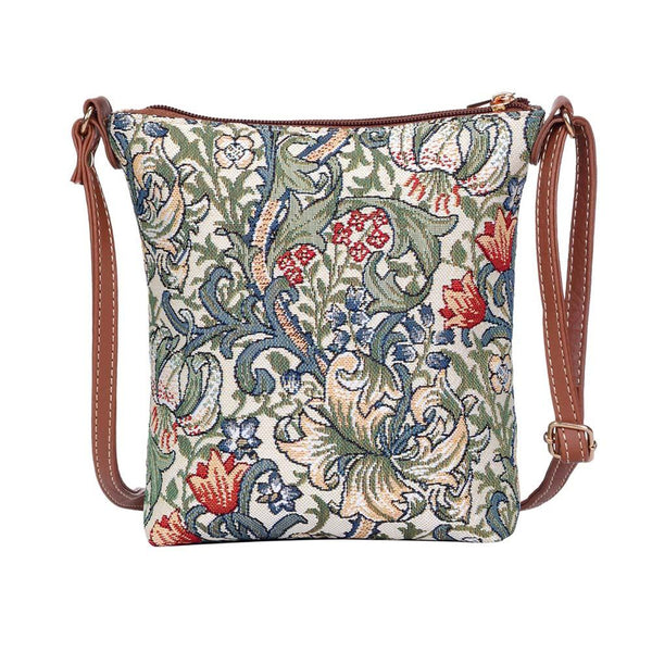 William Morris Golden Lily Sling Bag | Tapestry Art Cross Body Bag | SLING-GLILY