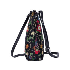 Jacobean Dream Sling Bag | Black Crossbody Bag | SLING-JACOB