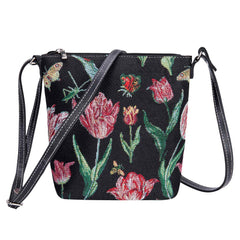 Marrel's Tulip Black Sling Bag | Floral Crossbody Bag | SLING-JMTBK