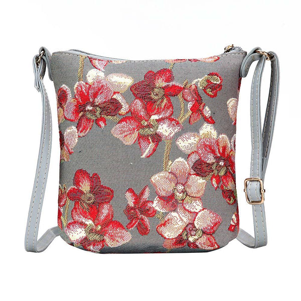 Orchid Sling Bag | Ladies Branded Fashionable Tapestry Cross Fabric Shoulder Bag | SLING-ORC