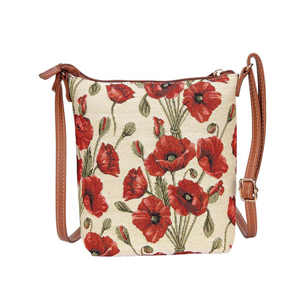 Poppy Sling Bag | Floral Tapestry Crossbody Bag | SLING-POP
