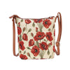 Poppy Sling Bag | Fashion Floral Crossbody Shoulder Strap Handbag | SLING-POP