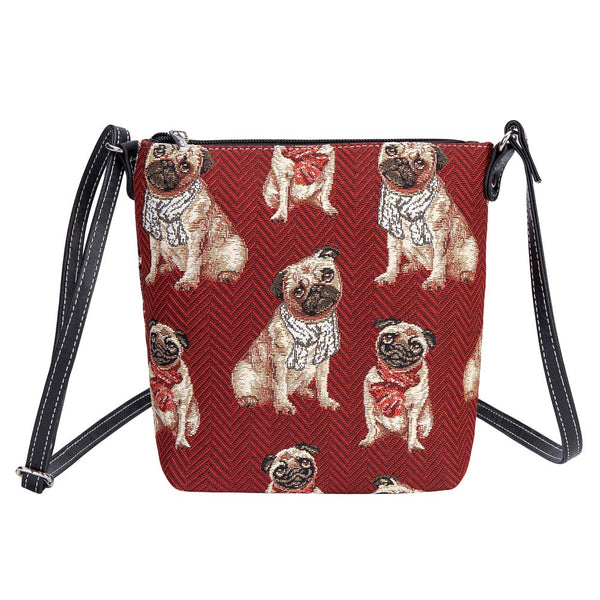 Pug Sling Bag | Red Ladies Cross Body Bag | SLING-PUG