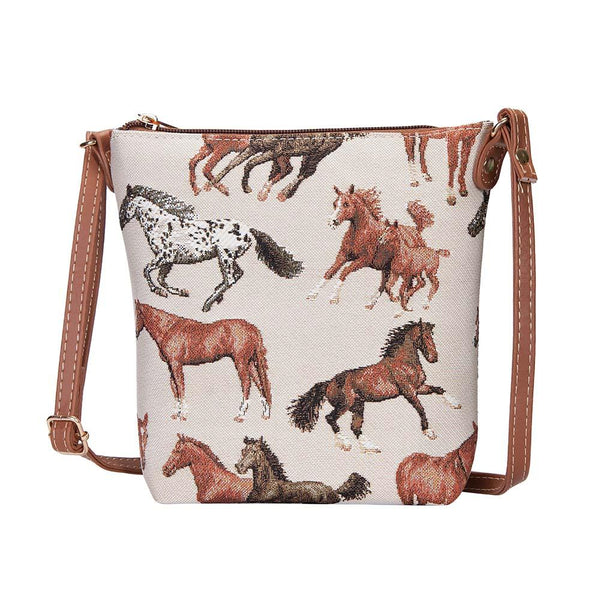 Running Horse Sling Bag | Tapestry Cross Shoulder Bag | SLING-RHOR