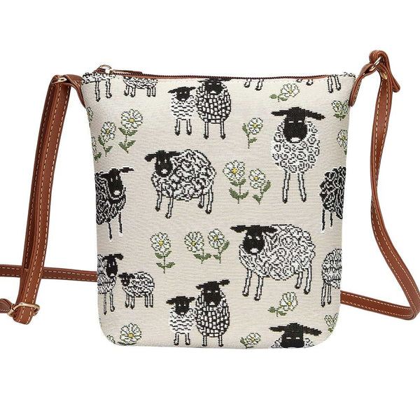 Spring Lamb Sling Bag | Cute Tapestry Ladies Shoulder Bag | SLING-SPLM