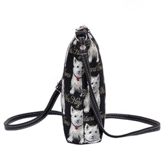 Westie Sling Bag | Fashion Shoulder Stylish Tapestry Handbag | SLING-WES