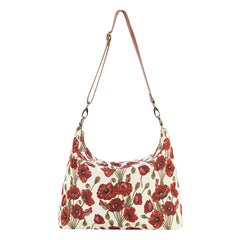 2021 S/S (New Arrival) Poppy Shoulder Slouch Bag | Floral Shoulder Handbag | SLOU-POP