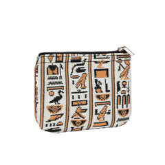 Cartouche Zip Coin Purse | Egyptian Pattern Ladies Coin Wallet | ZIPC-CART