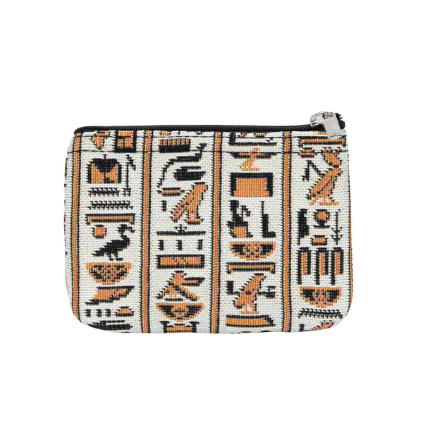 Cartouche Zip Coin Purse | Egyptian Culture Rfid Security Ladies Coin Wallet | ZIPC-CART
