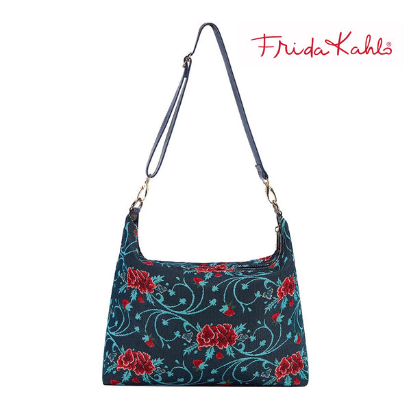 2021 S/S (New Arrival) Frida Kahlo Carnation Shoulder Slouch Bag  | Dark Shoulder Handbag | SLOU-FKCARN