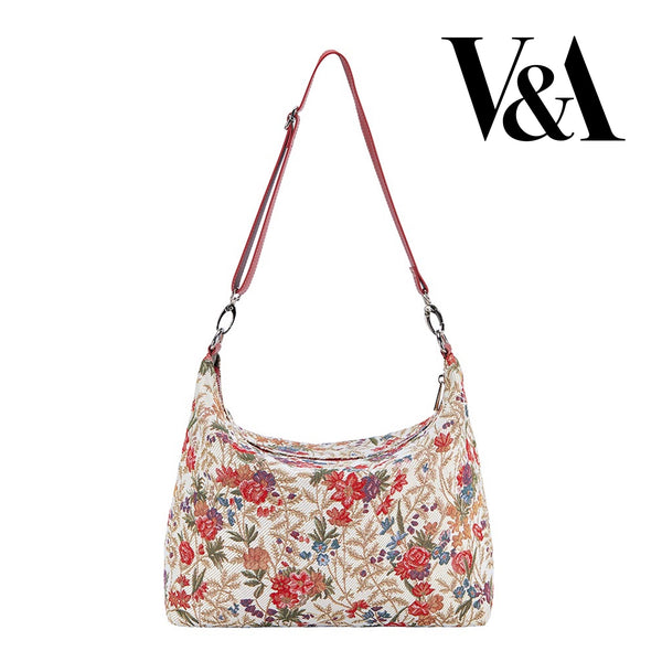 2021 S/S (New Arrival) Flower Meadow Shoulder Slouch Bag  | Floral Shoulder Handbag | SLOU-FLMD