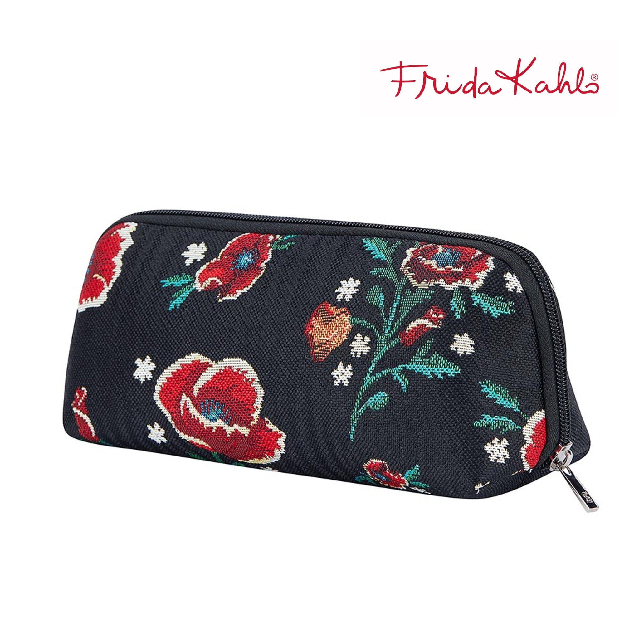 2021 S/S (New Arrival) Frida Kahlo Poppy Makeup Brush Bag | Floral Cosmetic Pouch | BRUBG-FKPOP