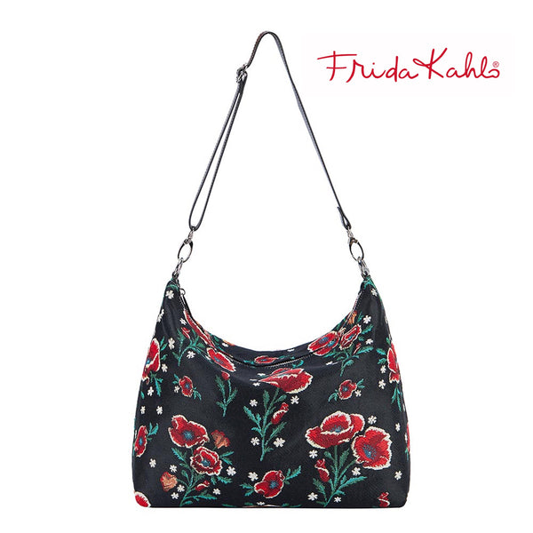 2021 S/S (New Arrival) Frida Kahlo Poppy Shoulder Slouch Bag | Floral Shoulder Handbag | SLOU-FKPOP