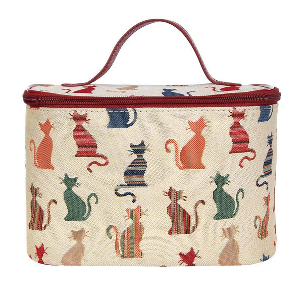Cheeky Cat Makeup Bag | Tapestry Cute Makeup Bags | TOIL-CHEKY