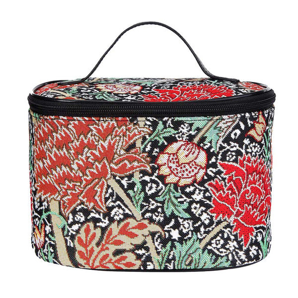 William Morris The Cray Makeup Bag | Black Floral Makeup Bag | TOIL-CRAY