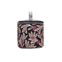 Golden Fern Makeup Bag | Black Tapestry Women's Makeup Bag | TOIL-GFERN