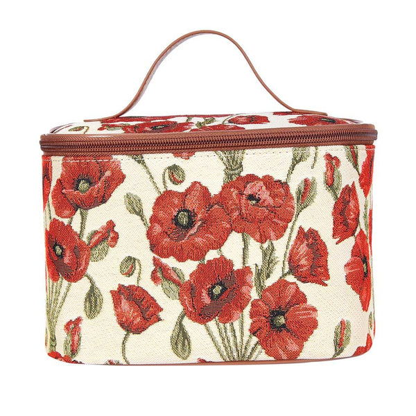 Poppy Makeup Bag | Tapestry Floral Makeup Bag | TOIL-POP