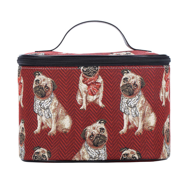 Pug Makeup Bag | Cute Toiletry Cosmetic Bath Case Storage | TOIL-PUG