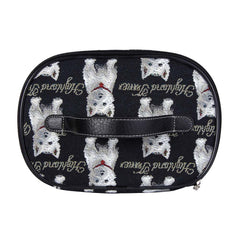 Westie Makeup Bag | Womens Black Makeup Case | TOIL-WES