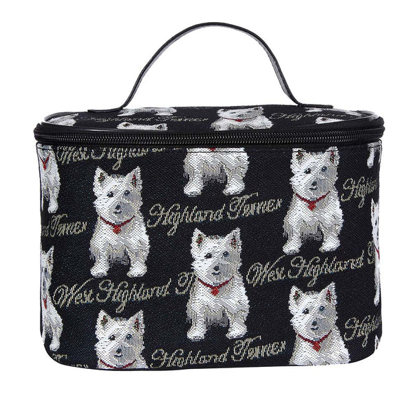 Westie Makeup Bag | Tapestry Cute Makeup Bags | TOIL-WES