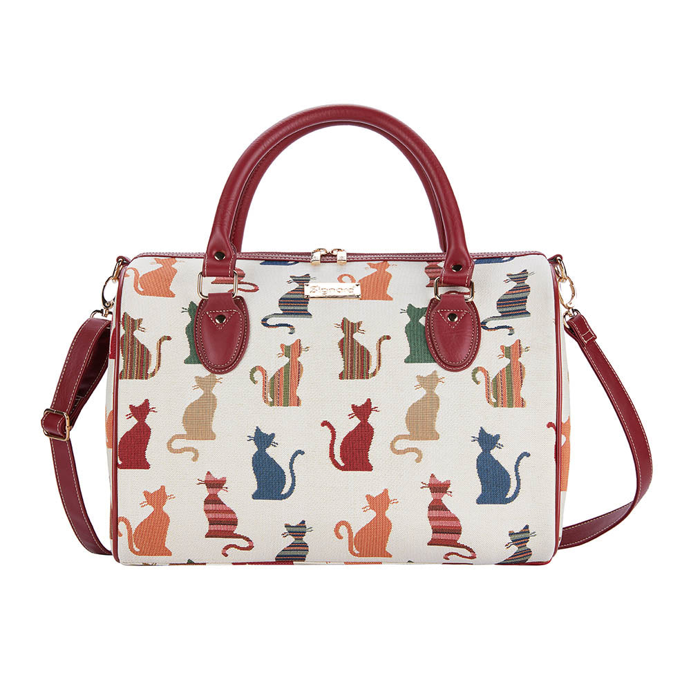 Cheeky Cat Weekend Travel Bag | Tapestry Ladies Overnight Bag | TRAV-CHEKY
