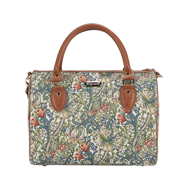 William Morris Golden Lily Travel Bag | Designer Art Weekend Overnight Trip Luggage | TRAV-GLILY