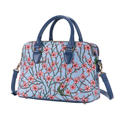 Almond Blossom and Swallow Triple Compartment Bag | TRIP-BLOS
