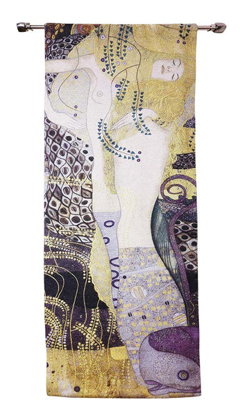 Wall Hanging-Klimt Portrait of Sea Serpent | Home decor, Wall art 68x173cm | WH-GK-SSPT