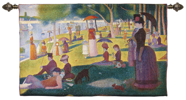 La Grande Jatte Wall Hanging | Tapestry Home Decor Wall Art 68x173cm | WH-GS-LGJ