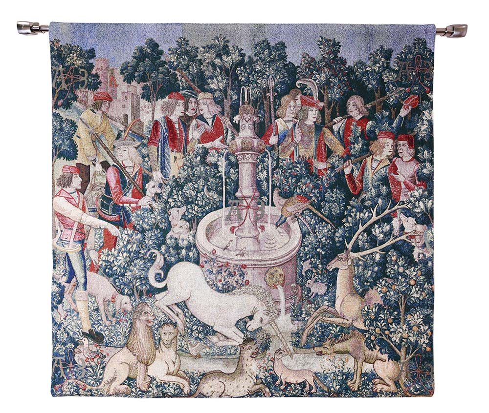 the hunt of the unicorn good quality tapestry